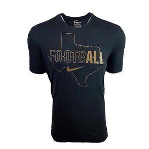 Nike Mens Black/Gold Texas Football Tee T-Shirt XL